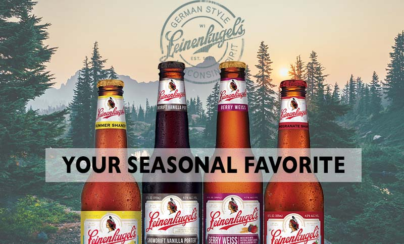 Leinenkugel seasonal beer bottles