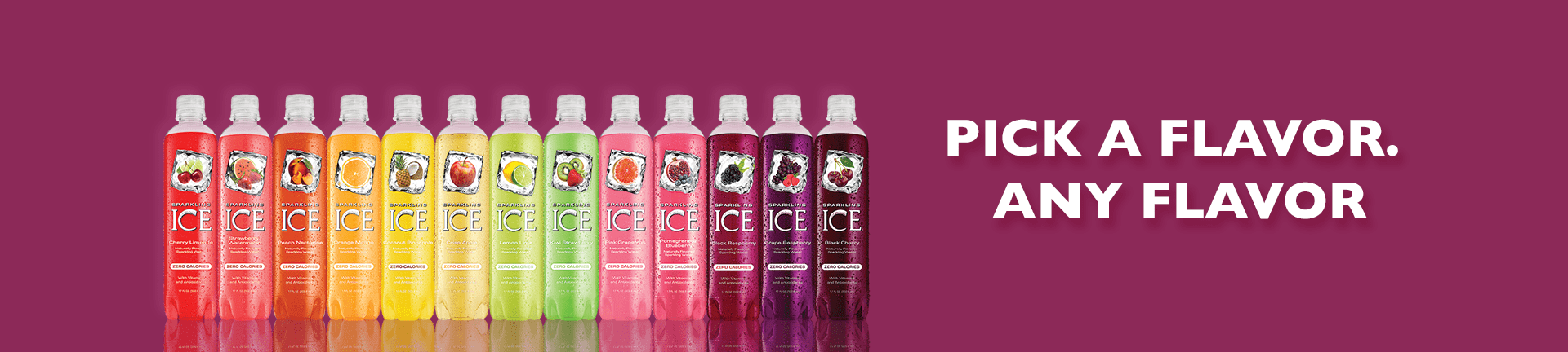 Sparkling Ice bottle lineup